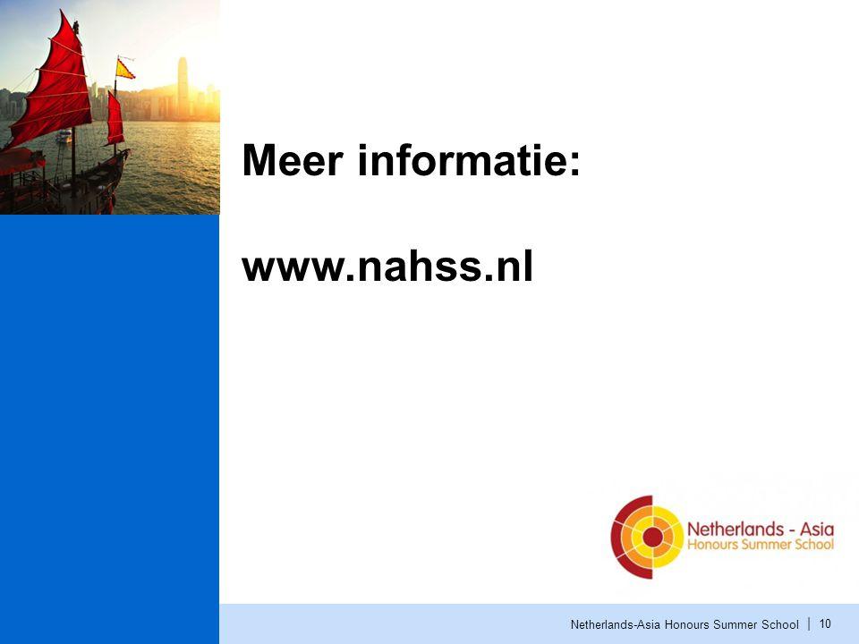 Meer informatie: www.nahss.nl