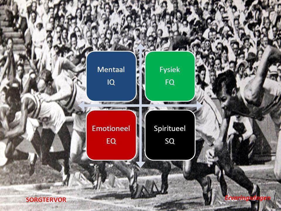 Mentaal IQ Fysiek FQ Emotioneel EQ Spiritueel SQ Ervaringsdagen