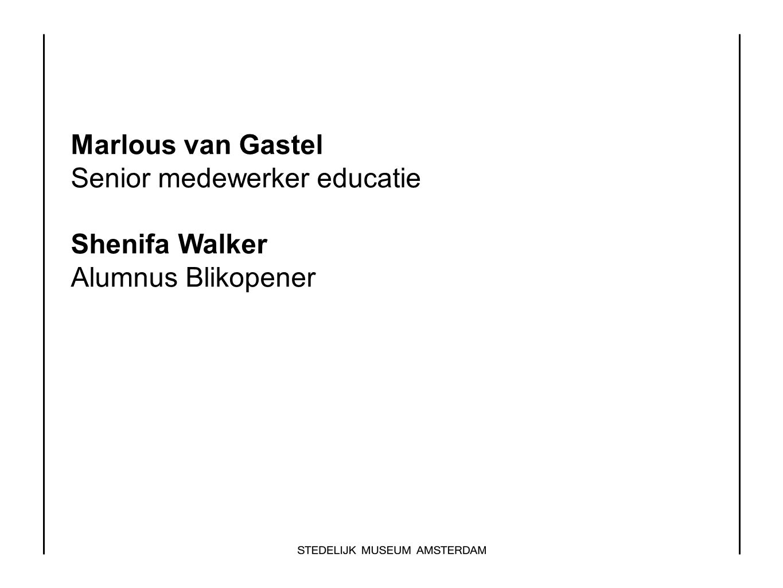 Senior medewerker educatie Shenifa Walker Alumnus Blikopener