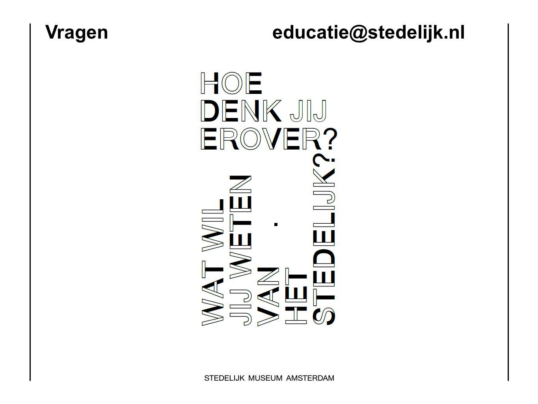 Vragen educatie@stedelijk.nl