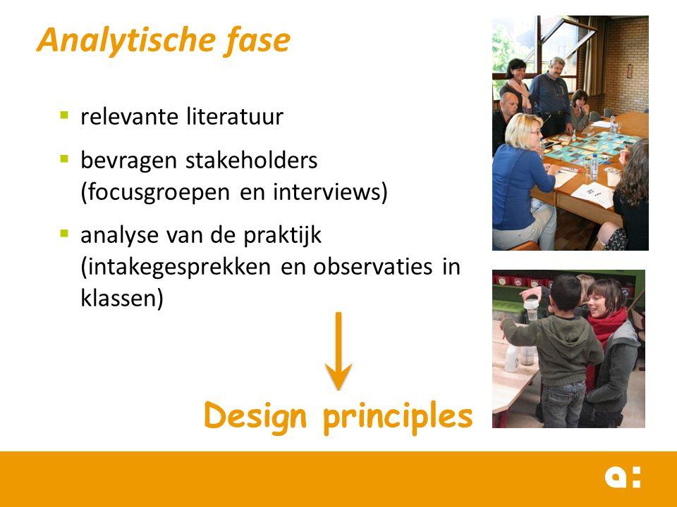 Analytische fase Design principles relevante literatuur
