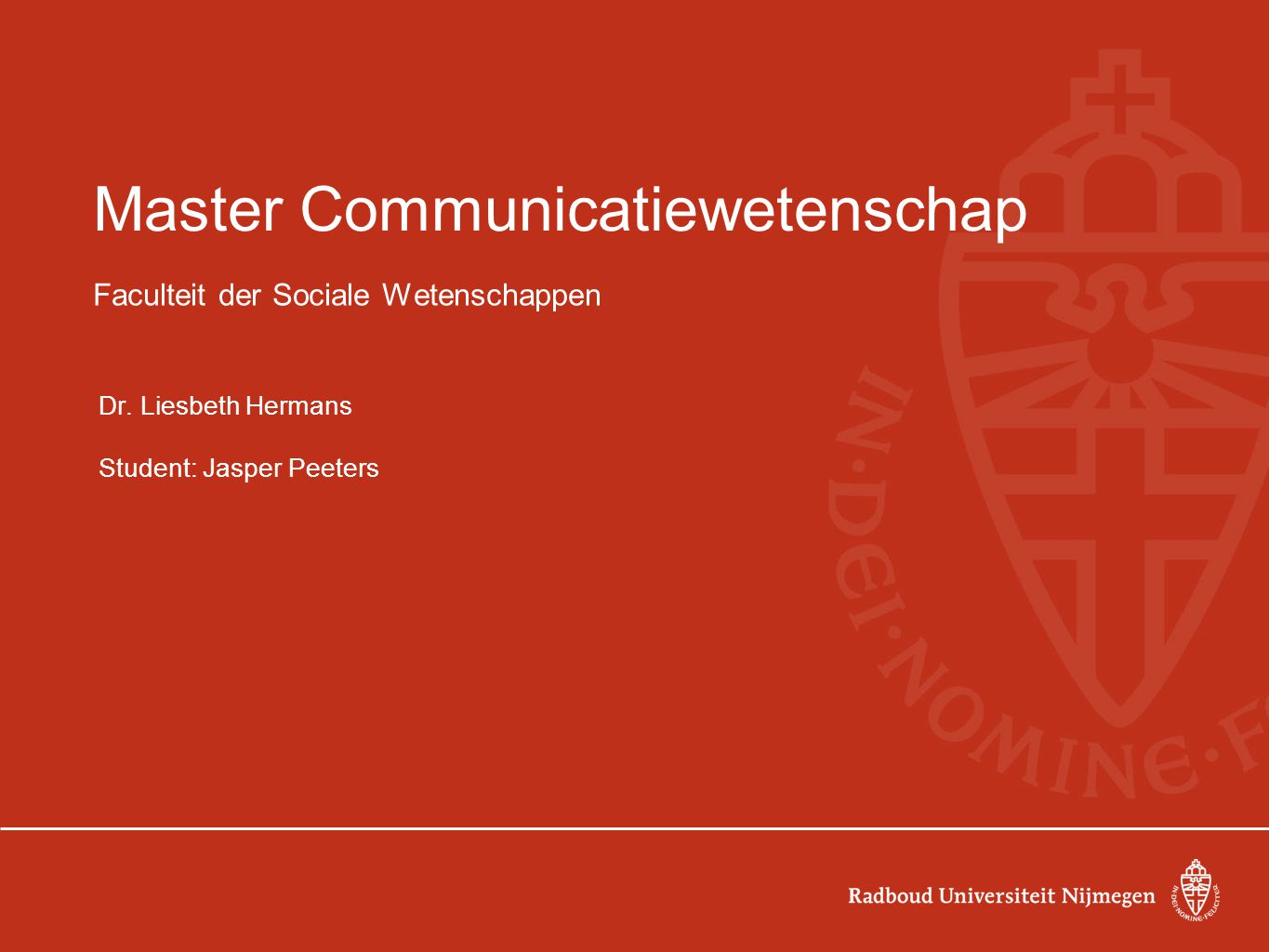 Master Communicatiewetenschap