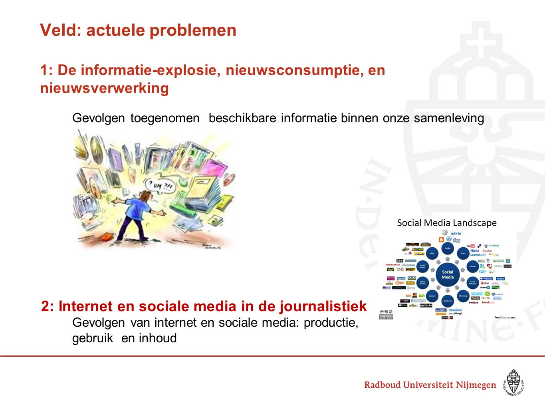 Veld: actuele problemen 1: De informatie-explosie, nieuwsconsumptie, en nieuwsverwerking
