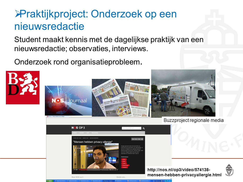 Praktijkproject: Onderzoek op een nieuwsredactie