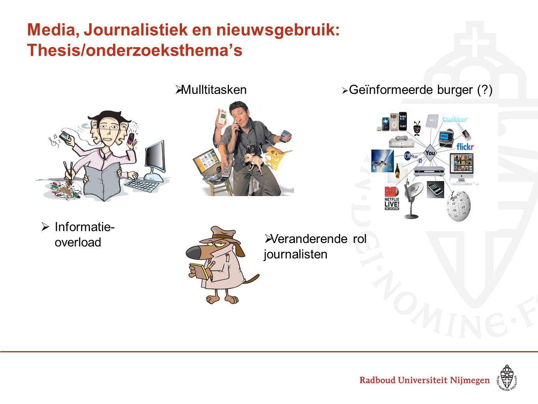 Media, Journalistiek en nieuwsgebruik: Thesis/onderzoeksthema's