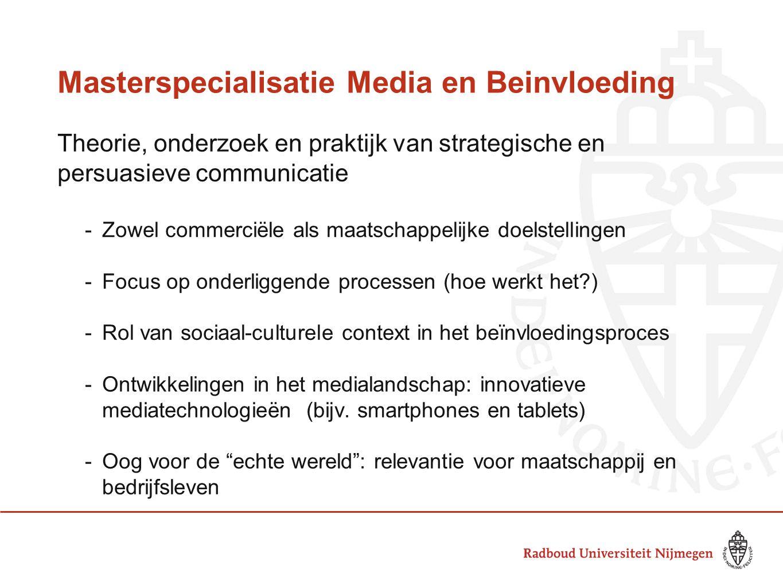Masterspecialisatie Media en Beinvloeding