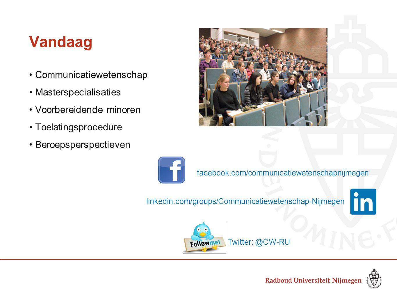 Vandaag Communicatiewetenschap Masterspecialisaties