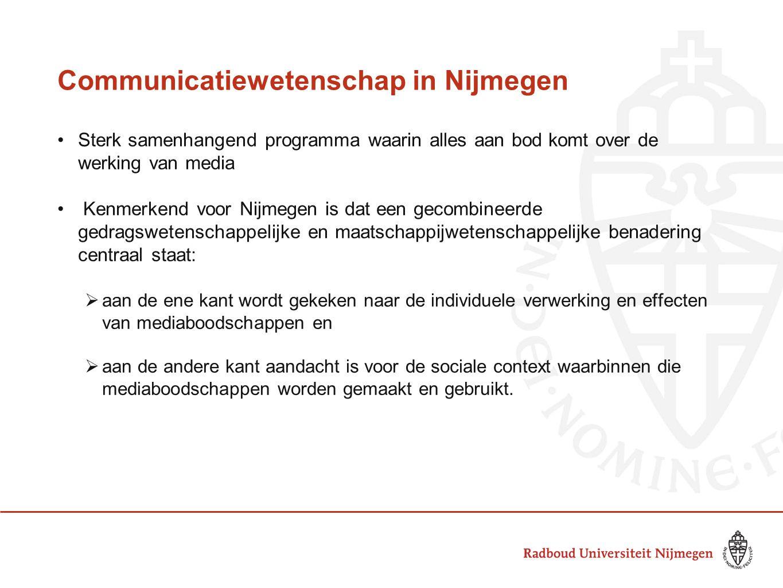 Communicatiewetenschap in Nijmegen