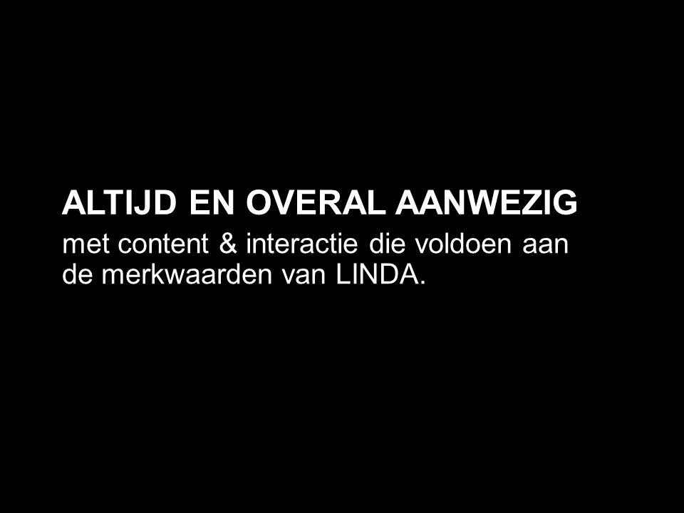 met content & interactie die voldoen aan de merkwaarden van LINDA.