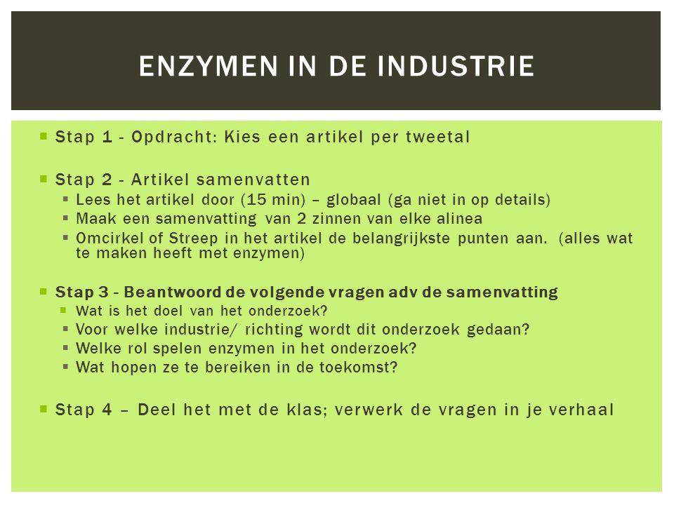 Enzymen in de industrie