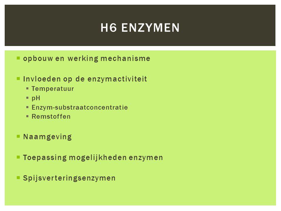 H6 enzymen opbouw en werking mechanisme