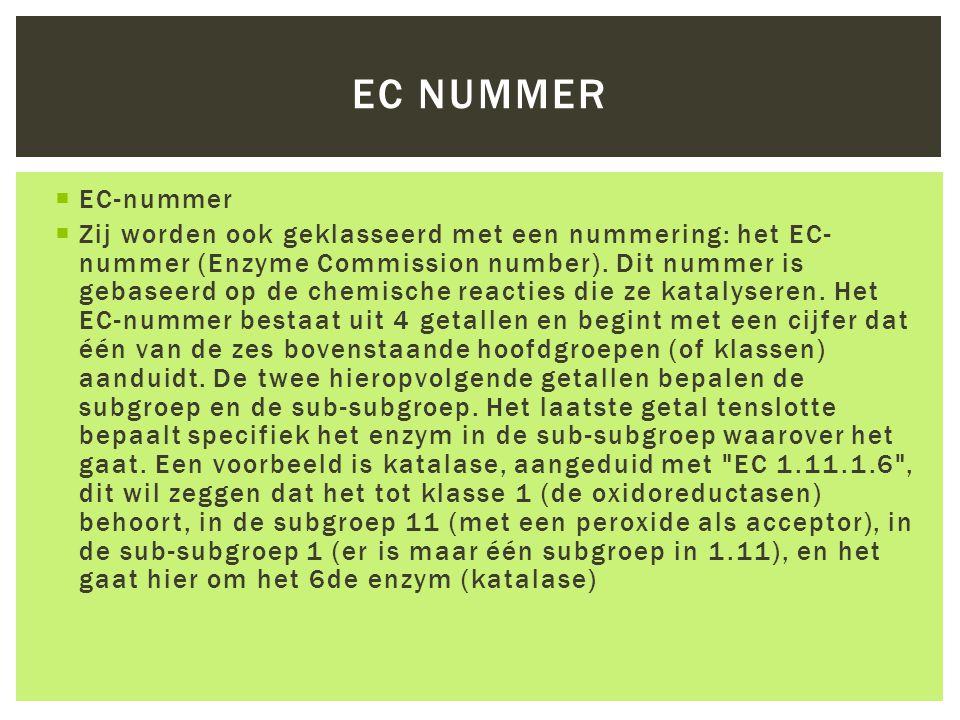 EC nummer EC-nummer.