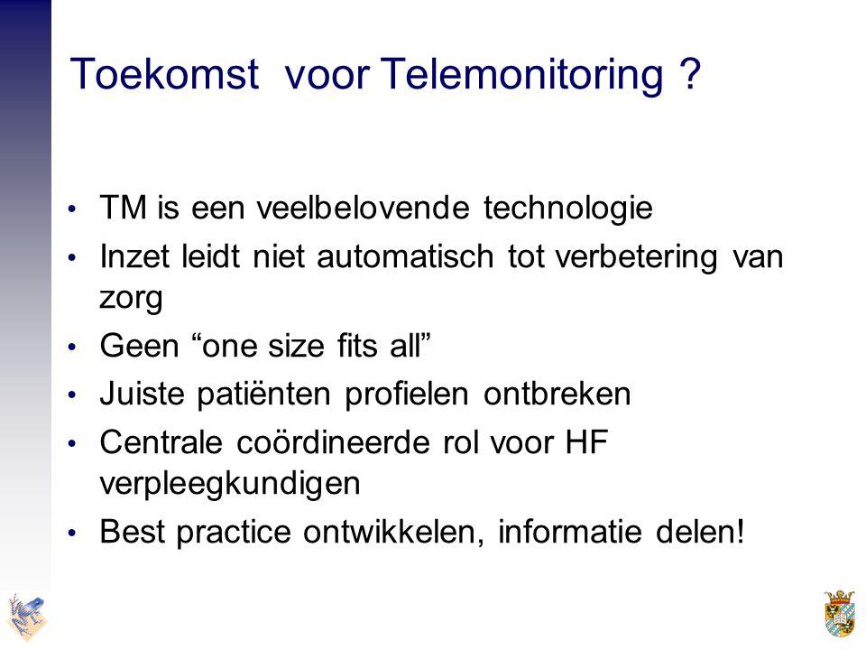 Toekomst voor Telemonitoring