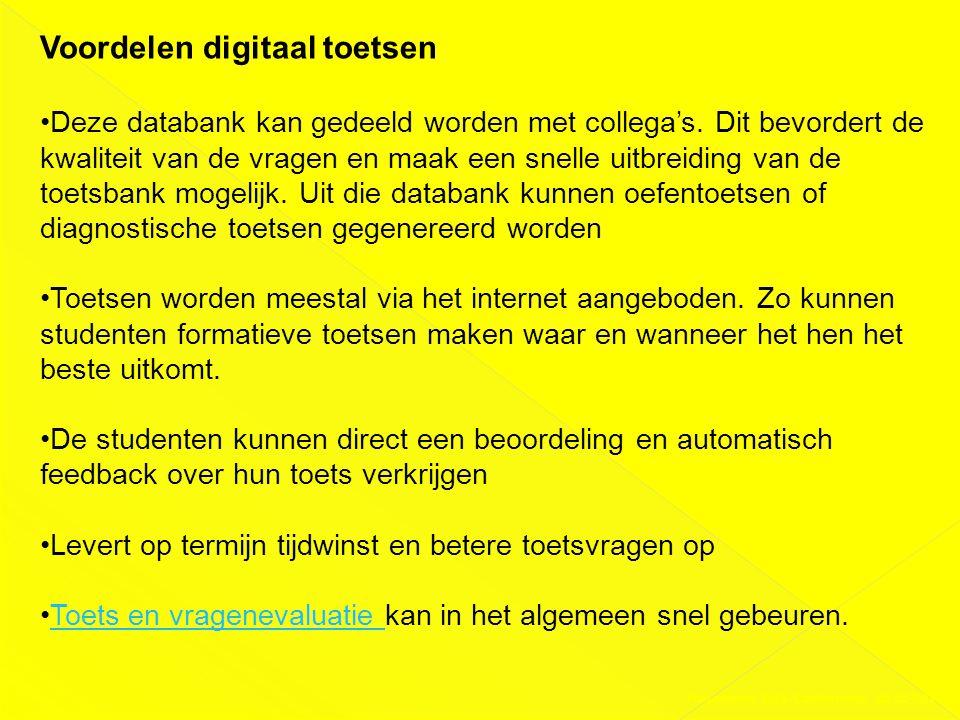 Voordelen digitaal toetsen