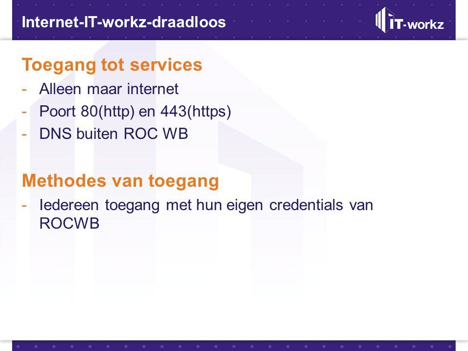 Toegang tot services Methodes van toegang Internet-IT-workz-draadloos