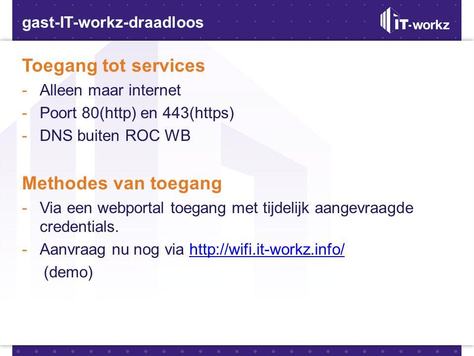 Toegang tot services Methodes van toegang gast-IT-workz-draadloos