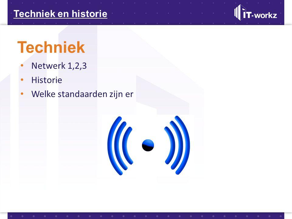 Techniek Techniek en historie Netwerk 1,2,3 Historie