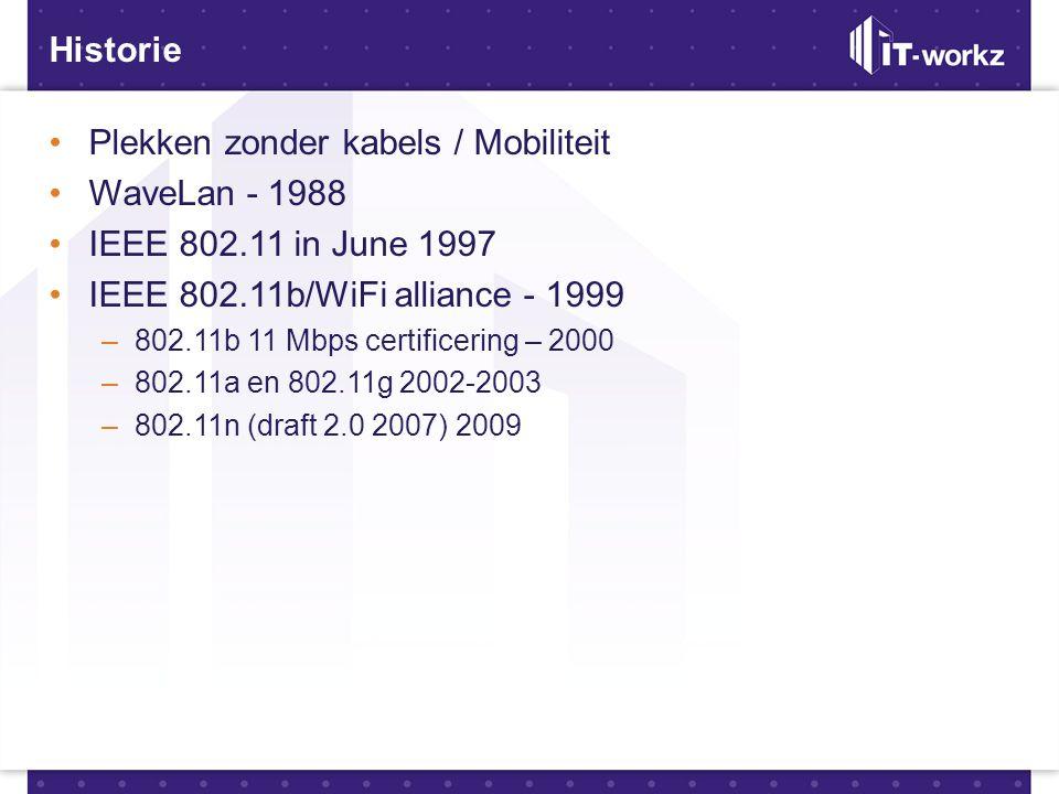 Plekken zonder kabels / Mobiliteit WaveLan - 1988