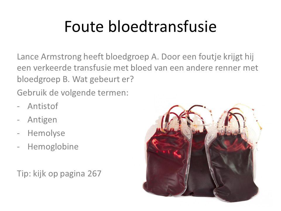 Foute bloedtransfusie