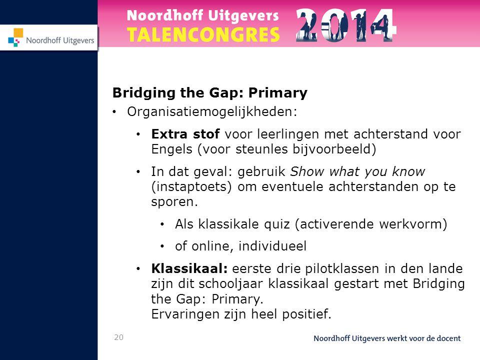 Bridging the Gap: Primary