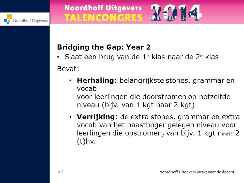 Bridging the Gap: Year 2 Slaat een brug van de 1e klas naar de 2e klas. Bevat: