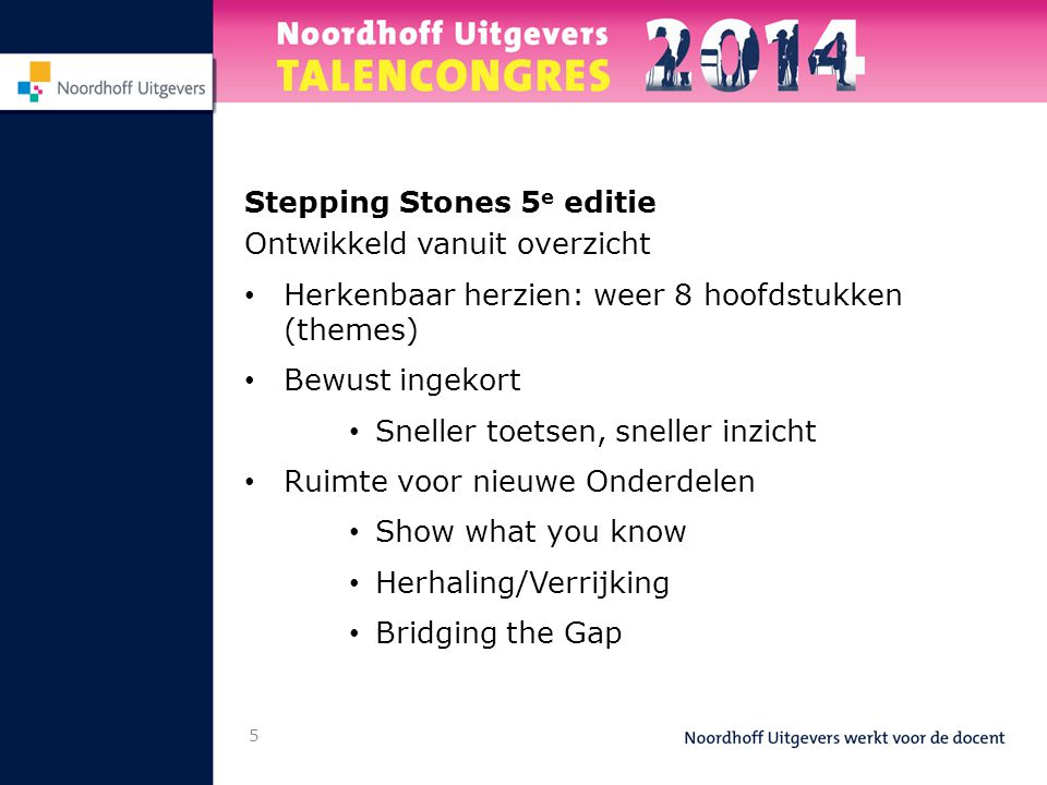 Stepping Stones 5e editie