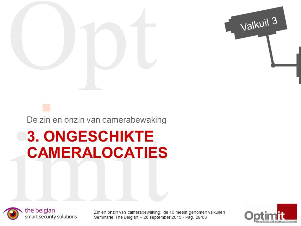 3. Ongeschikte cameralocaties