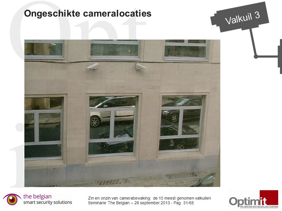 Ongeschikte cameralocaties