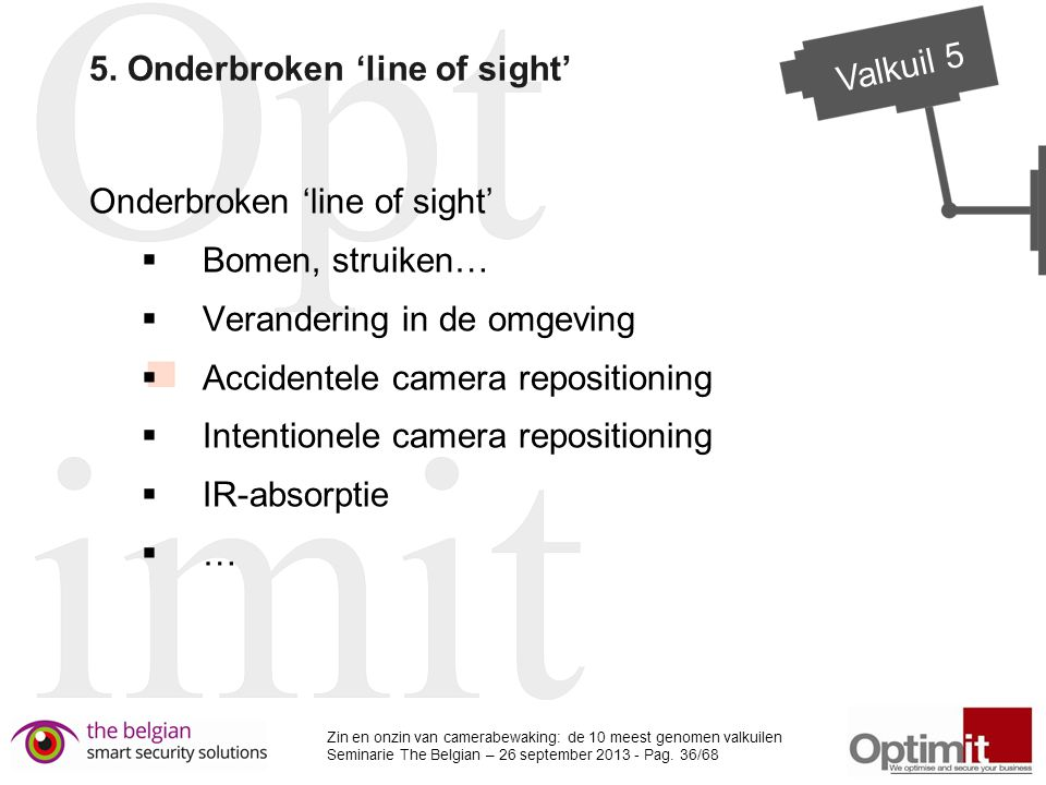 5. Onderbroken 'line of sight'
