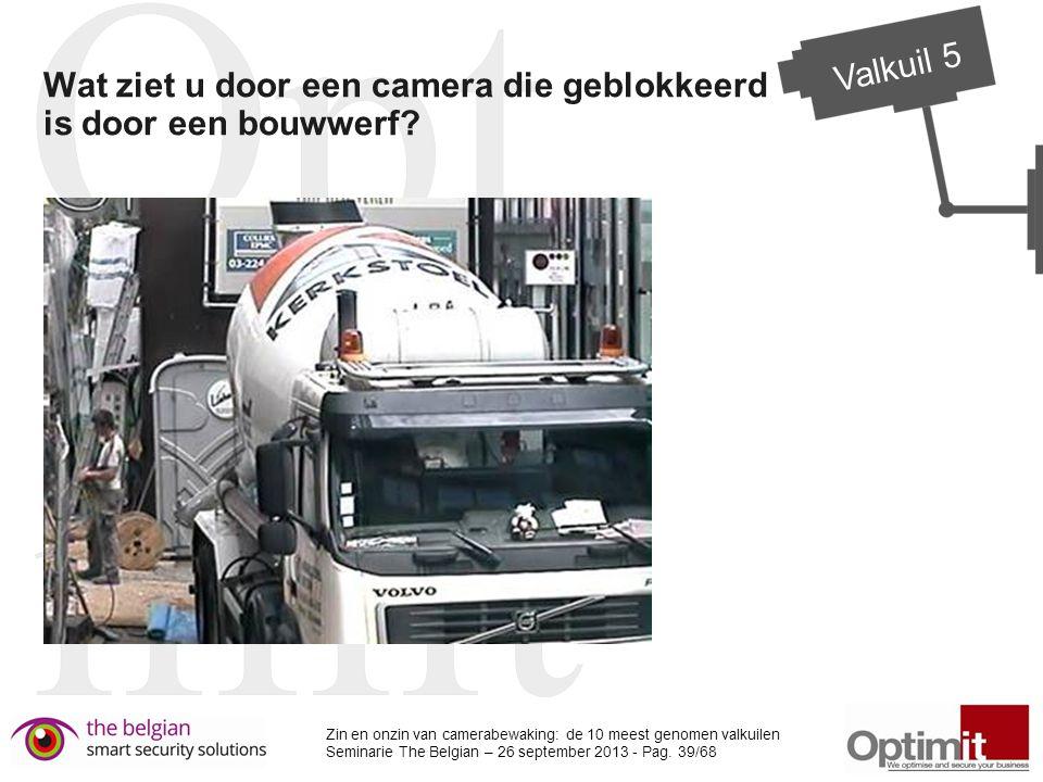 Wat ziet u door een camera die geblokkeerd is door een bouwwerf