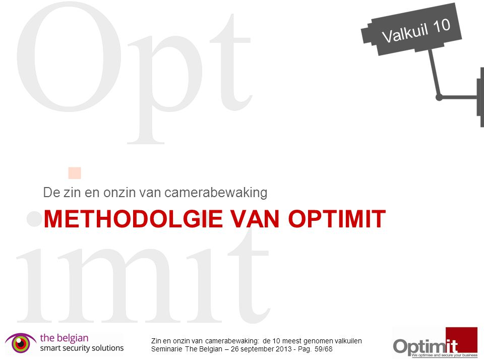 METHODOLGIE VAN OPTIMIT