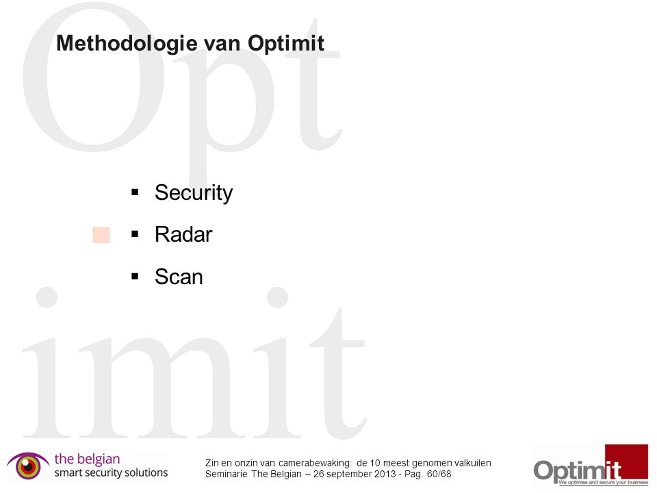 Methodologie van Optimit