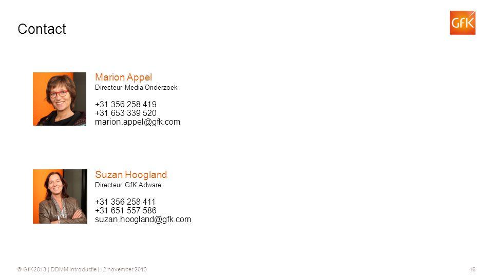 Contact Marion Appel Suzan Hoogland +31 356 258 419 +31 653 339 520