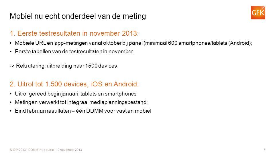 Mobiel nu echt onderdeel van de meting