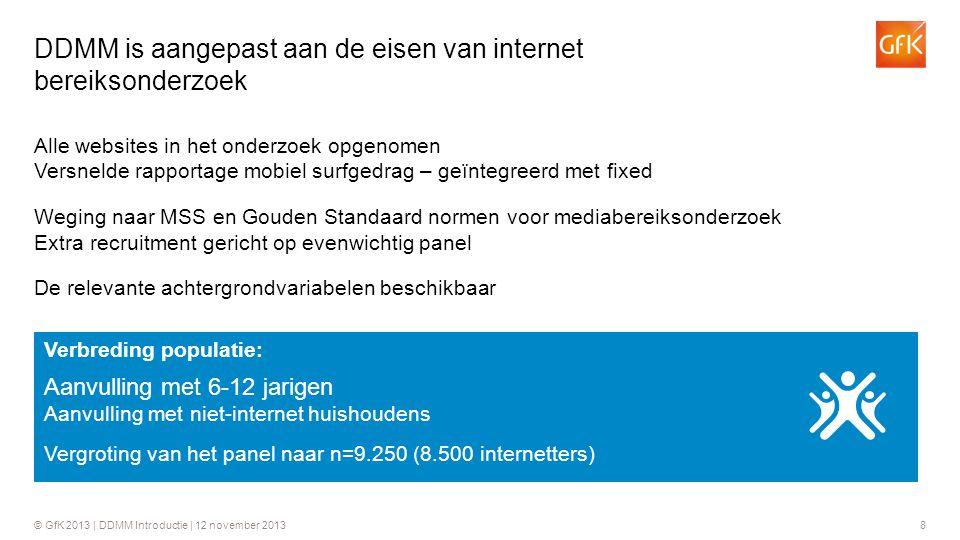 DDMM is aangepast aan de eisen van internet bereiksonderzoek