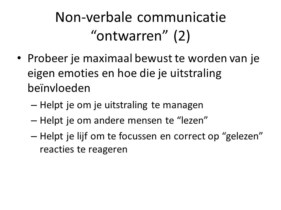 Non-verbale communicatie ontwarren (2)