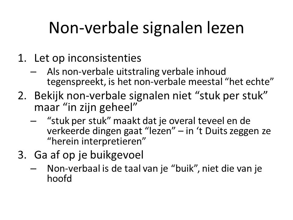 Non-verbale signalen lezen