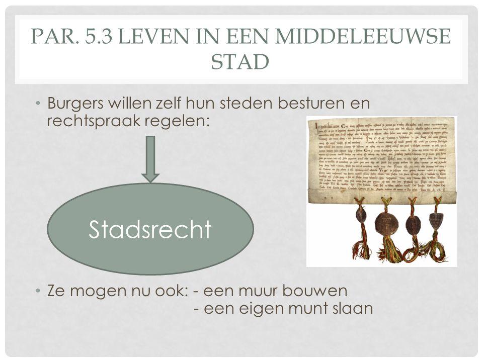 Par. 5.3 Leven in een middeleeuwse stad