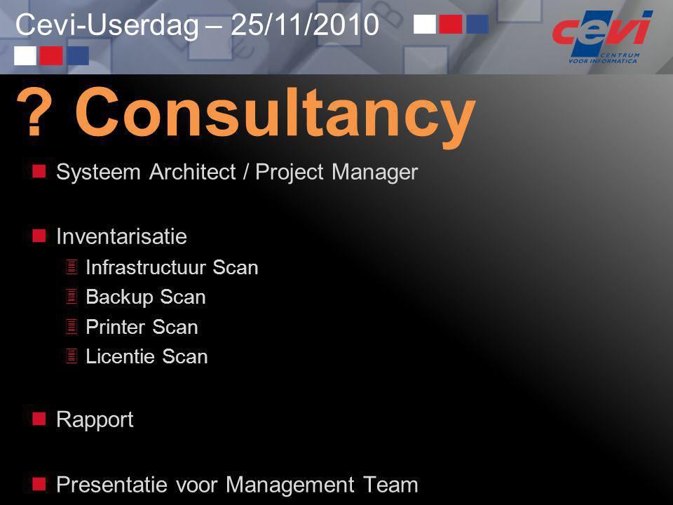 Consultancy Systeem Architect / Project Manager Inventarisatie
