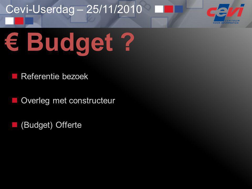 € Budget Referentie bezoek Overleg met constructeur (Budget) Offerte