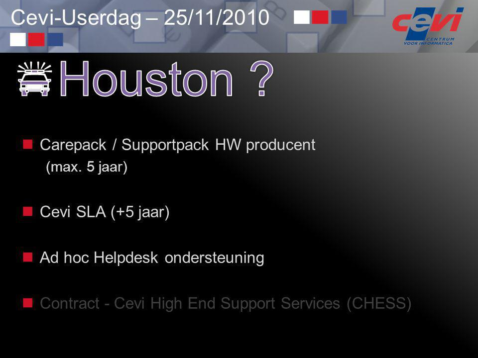 Houston Carepack / Supportpack HW producent Cevi SLA (+5 jaar)