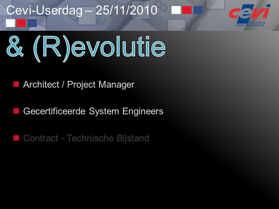 & (R)evolutie Architect / Project Manager