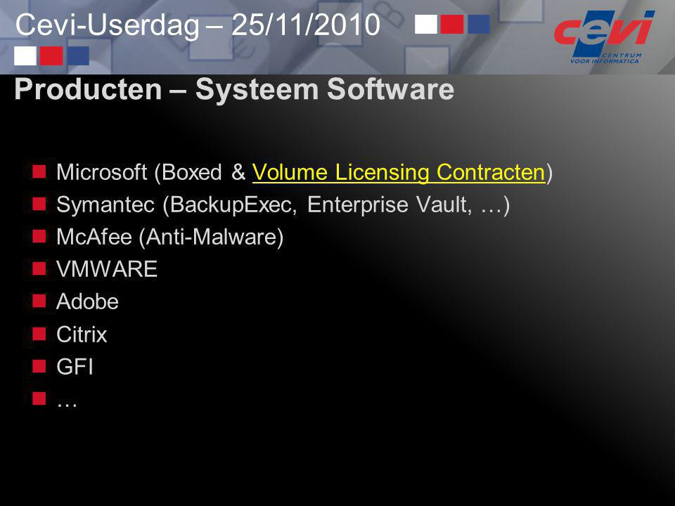 Producten – Systeem Software