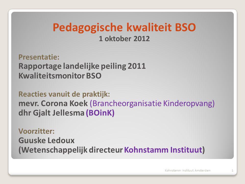 Pedagogische kwaliteit BSO