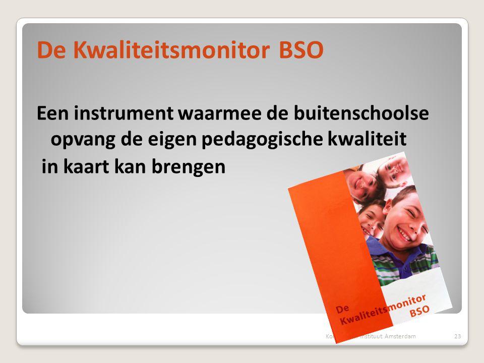 De Kwaliteitsmonitor BSO