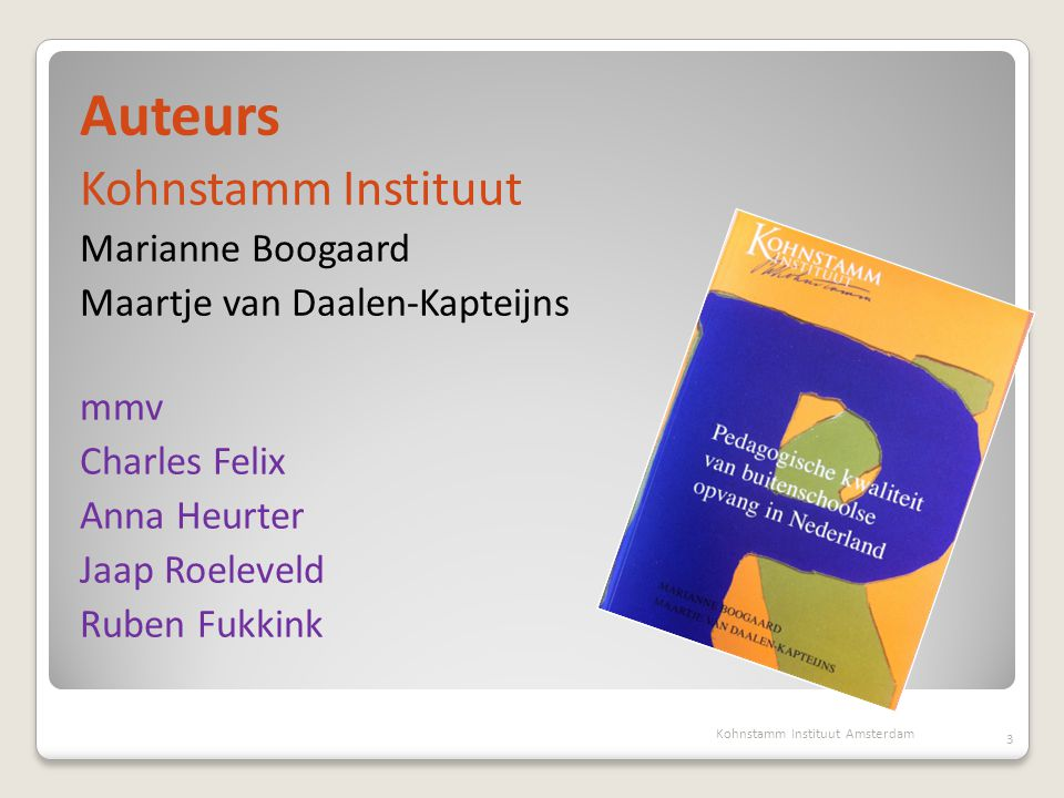 Auteurs Kohnstamm Instituut Marianne Boogaard