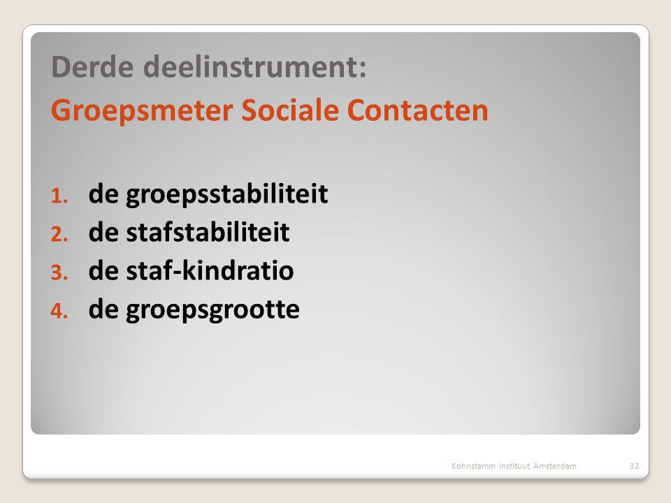 Derde deelinstrument: Groepsmeter Sociale Contacten