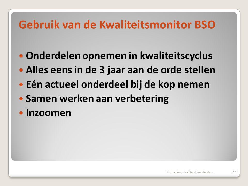 Gebruik van de Kwaliteitsmonitor BSO