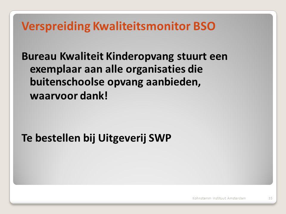 Verspreiding Kwaliteitsmonitor BSO