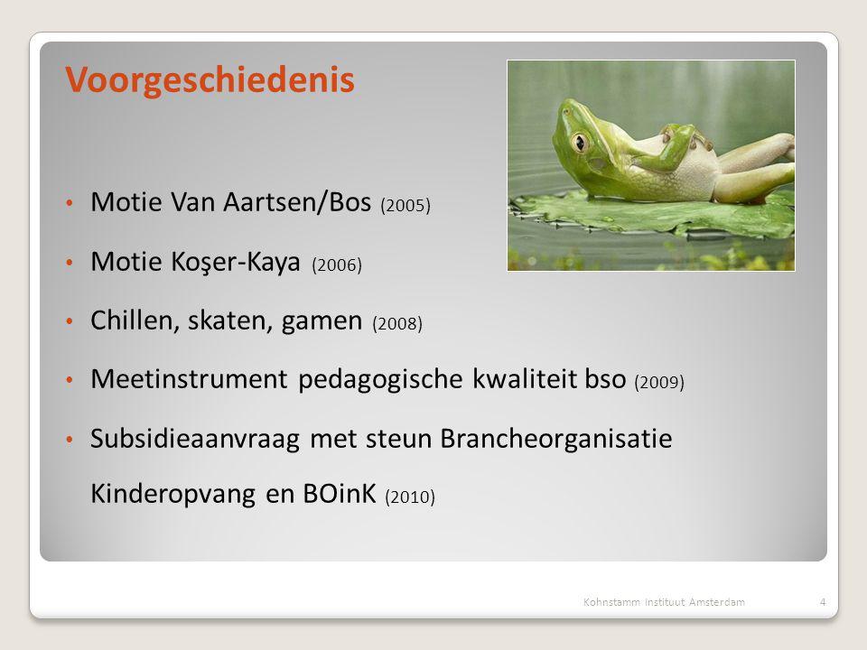 Voorgeschiedenis Motie Van Aartsen/Bos (2005) Motie Koşer-Kaya (2006)